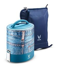 Vaya Tyffyn 1000 Denim Lunch Box with Bagmat - 33.5 oz