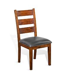 Tuscany Vintage Mocha Ladderback Chair, Cushion Seat