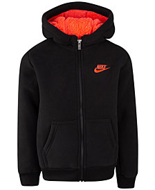 Nike Little Boys Faux-Sherpa Full-Zip Hoodie