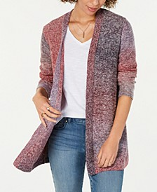 Petite Ombrè Open-Front Cardigan, Created For Macy's