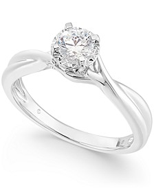 Diamond Solitaire Engagement Ring (1/3 c.t. t.w.) in 14k White Gold