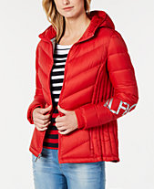 Tommy Hilfiger Logo-Sleeve Puffer Jacket, Created for Macy s d65cacab7156