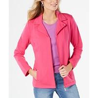 Karen Scott Plus Size Moto Jacket