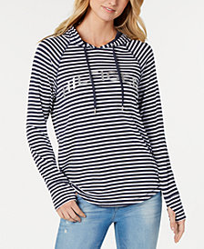 Tommy Hilfiger Striped Graphic Hoodie