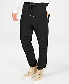 Just Cavalli Men's Fleece Moto Joggers