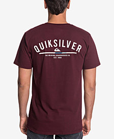 Quiksilver Men's Simple Color Logo Graphic T-Shirt