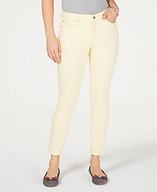 Charter Club Petite Solid Bristol Ankle Jeans, Created for Macy's