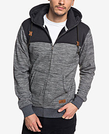 Quiksilver Men's Keller Colorblocked Full-Zip Hoodie
