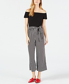 Off-The-Shoulder Jumpsuit, Created for Macy's