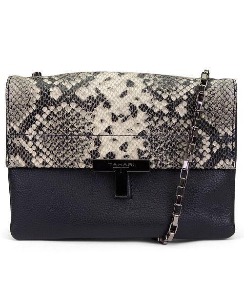 20ba2927fb676c T Tahari Karla Leather Flap Crossbody & Reviews - Handbags ...