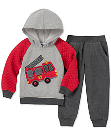 Kids Headquarters Little Boys 2-Pc. Firetruck Graphic Fleece Hoodie & Pants Set
