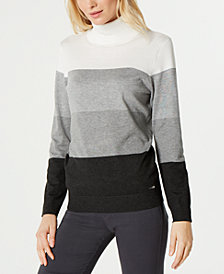 Calvin Klein Colorblocked Turtleneck Sweater