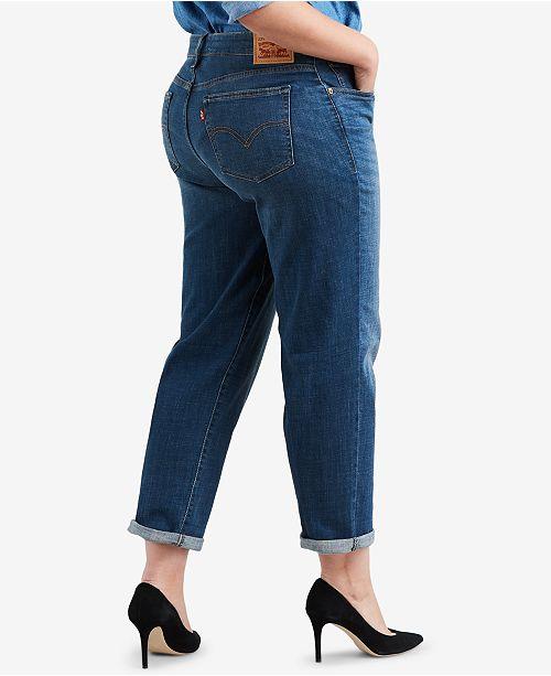 6266be5e4a9 Levi s Plus Size Boyfriend Jeans   Reviews - Jeans - Plus Sizes - Macy s