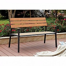 Transitional Style Patio Bench