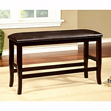 Wooden Counter Height Bench