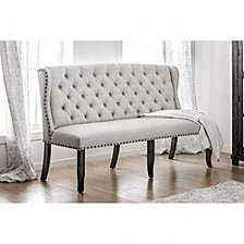 Stylish Long bench with tufted back