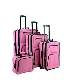 Rockland 4PC Softside Luggage Set
