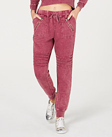 Material Girl Active Juniors' Moto-style Sweatpants, Created for Macy's