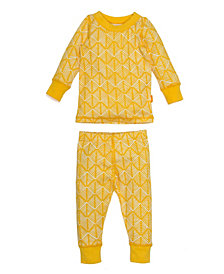 Masala Baby Diamond Hatch Baby Girl's Organic Cotton Pajamas
