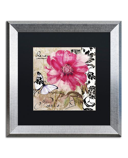 "Trademark Global Color Bakery 'Le Pink' Matted Framed Art, 16"" x 16"""