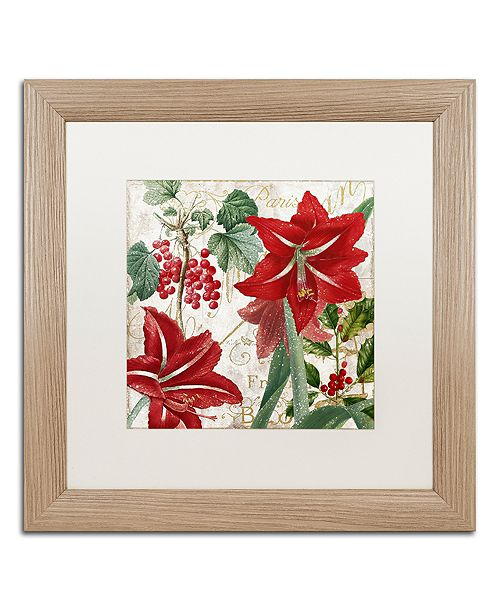 """Trademark Global Color Bakery 'Christmas In Paris Ii' Matted Framed Art, 16"""" x 16"""""""