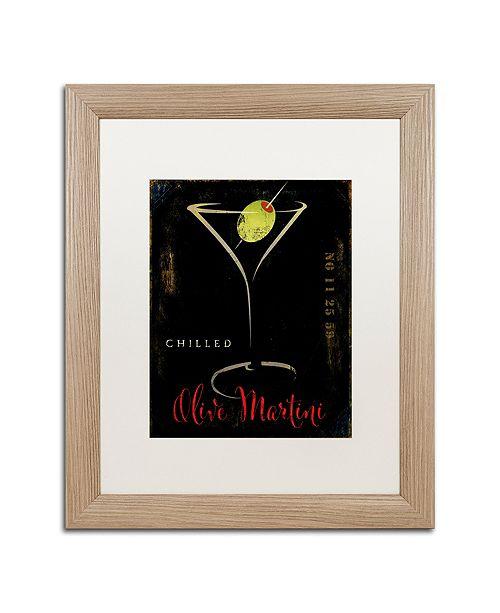 "Trademark Global Color Bakery 'Olive Martini Ii' Matted Framed Art, 16"" x 20"""