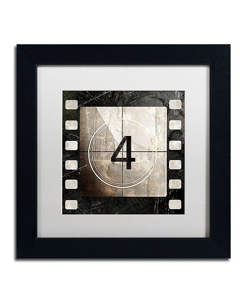 "Trademark Global Color Bakery 'Vintage Countdown Iv' Matted Framed Art, 11"" x 11"""