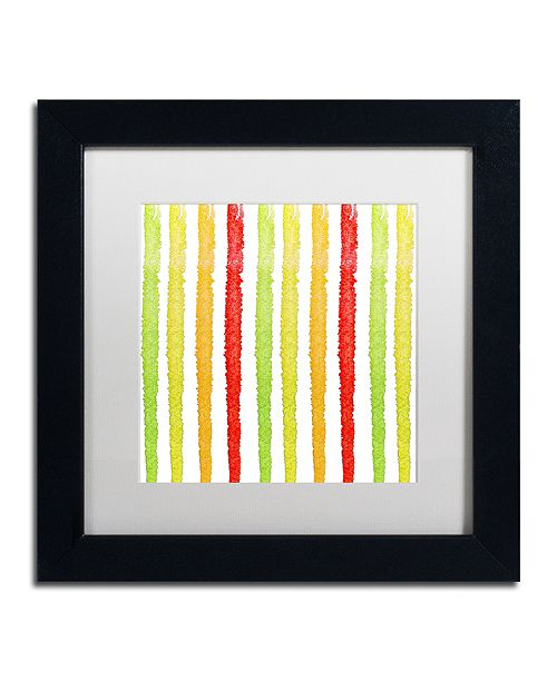 "Trademark Global Color Bakery 'Aria Iv' Matted Framed Art, 11"" x 11"""