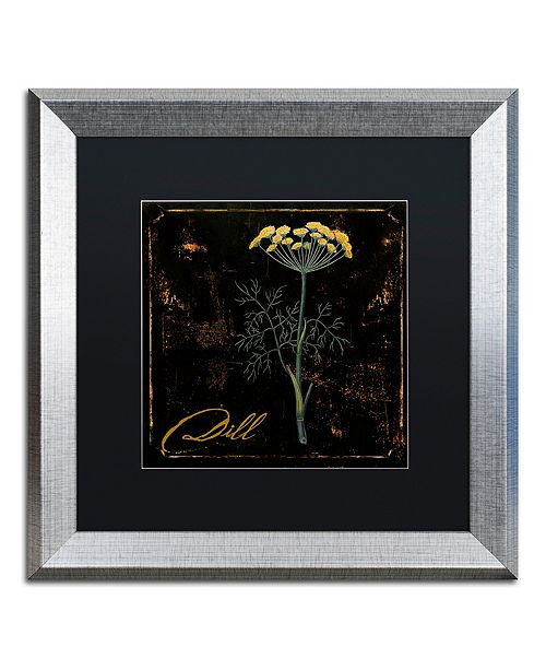 "Trademark Global Color Bakery 'Black Gold Herbs I' Matted Framed Art, 16"" x 16"""