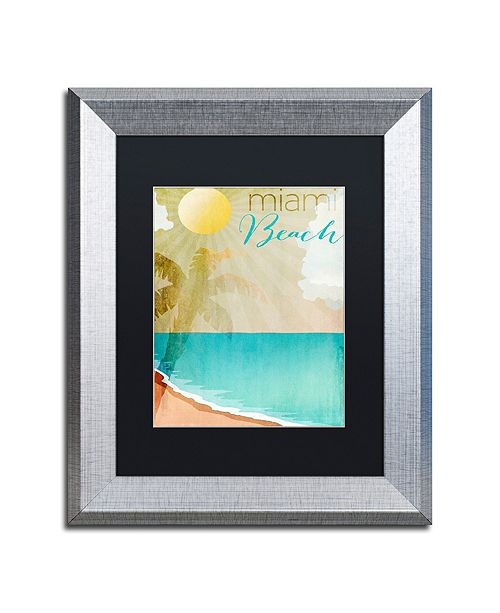 "Trademark Global Color Bakery 'Miami Beach' Matted Framed Art, 11"" x 14"""