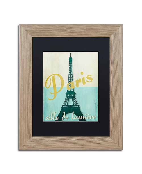 "Trademark Global Color Bakery 'Paris City Of Light' Matted Framed Art, 11"" x 14"""