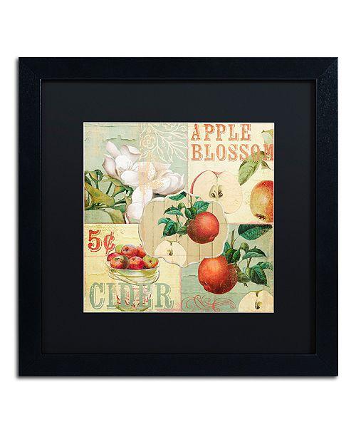 "Trademark Global Color Bakery 'Apple Blossoms I' Matted Framed Art, 16"" x 16"""