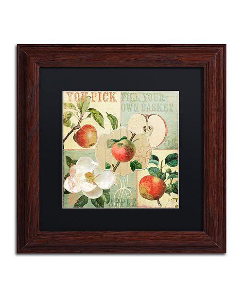 "Trademark Global Color Bakery 'Apple Blossoms Ii' Matted Framed Art, 11"" x 11"""