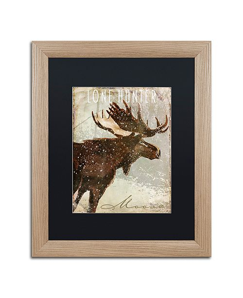 "Trademark Global Color Bakery 'Winter Game Four' Matted Framed Art, 16"" x 20"""