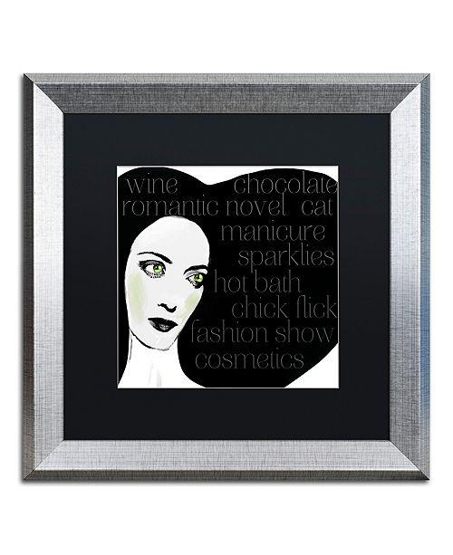 "Trademark Global Color Bakery 'Femme Den Iii' Matted Framed Art, 16"" x 16"""