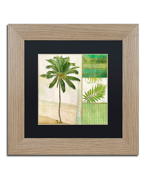 "Trademark Global Color Bakery 'Paradise Ii' Matted Framed Art, 11"" x 11"""