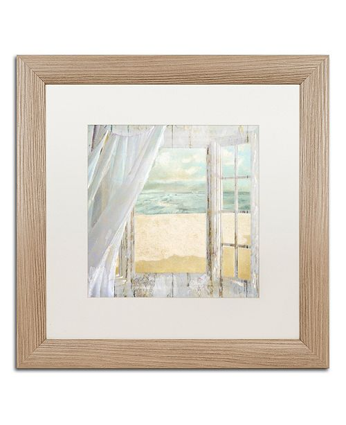 "Trademark Global Color Bakery 'Summer Me I' Matted Framed Art, 16"" x 16"""