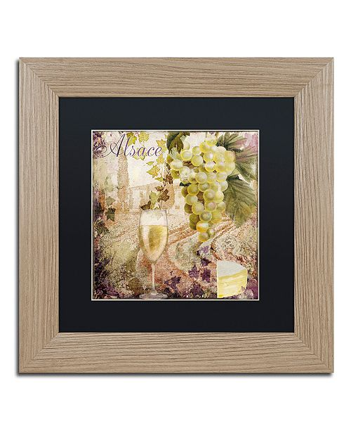 """Trademark Global Color Bakery 'Wine Country I' Matted Framed Art, 11"""" x 11"""""""
