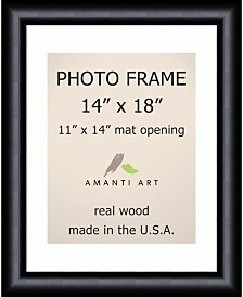 """Amanti Art Steinway Black 14"""" X 18"""" Matted to 11"""" X 14"""" Opening Wall Picture Photo Frame"""