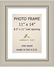 """Amanti Art Romano Silver 11"""" X 14"""" Matted to 8.5"""" X 11"""" Opening Wall Picture Photo Frame"""