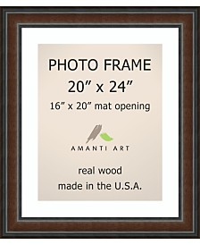 """Amanti Art Cyprus Walnut 20"""" X 24"""" Matted to 16"""" X 20"""" Opening Wall Picture Photo Frame"""