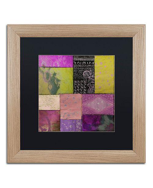 "Trademark Global Color Bakery 'Afrikan Batik Ii' Matted Framed Art, 16"" x 16"""