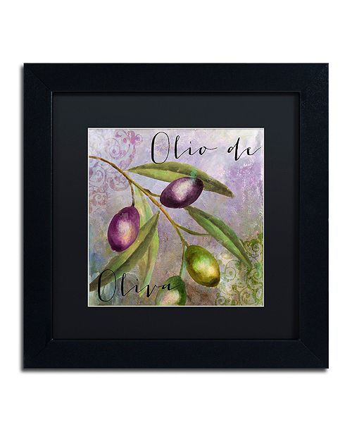 "Trademark Global Color Bakery 'Olivia I' Matted Framed Art, 11"" x 11"""