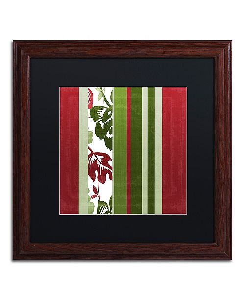 "Trademark Global Color Bakery 'Woodlands Christmas Iv' Matted Framed Art, 16"" x 16"""