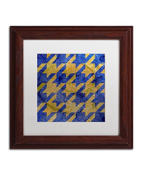 "Trademark Global Color Bakery 'Houndstooth Iii' Matted Framed Art, 11"" x 11"""