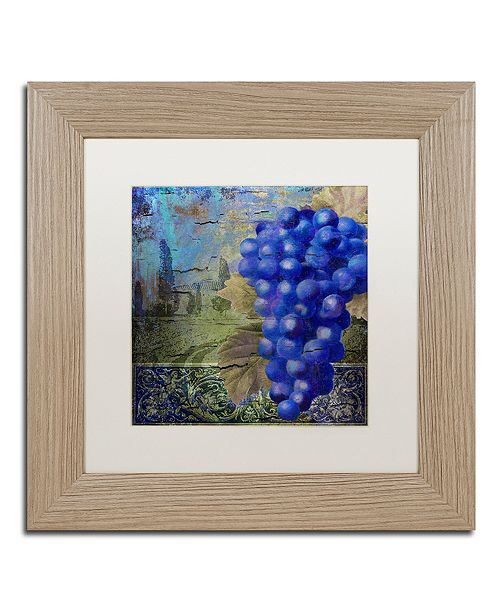"Trademark Global Color Bakery 'Vino Blu One' Matted Framed Art, 11"" x 11"""