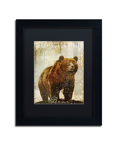 "Trademark Global Color Bakery 'Winter Game Three' Matted Framed Art, 11"" x 14"""