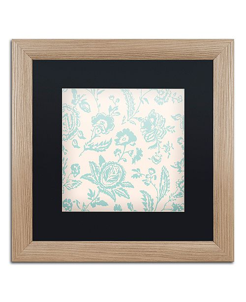 """Trademark Global Color Bakery 'Toile Fabrics Xi' Matted Framed Art, 16"""" x 16"""""""