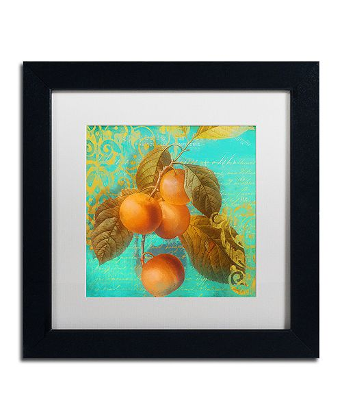 "Trademark Global Color Bakery 'Glowing Fruits I' Matted Framed Art, 11"" x 11"""