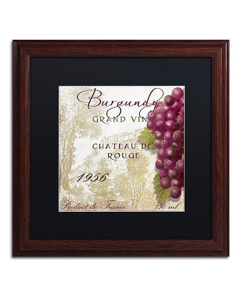 """Trademark Global Color Bakery 'Grand Vin Burgundy' Matted Framed Art, 16"""" x 16"""""""